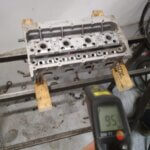 Нагревание ГБЦ VAG 1.4 TSI для замены направляющей втулки техцентр Сатон Ставрополь